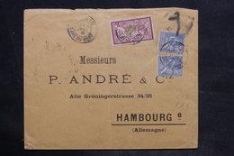 FRANCE - Enveloppe De Paris Pour L 'Allemagne En 1901 , Affranchissement Plaisant Mouchons / Merson - L 34189 - Marcophilie (Lettres)
