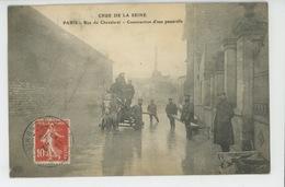 PARIS - XIIIème Arrondissement - CRUE DE LA SEINE - Rue Du Chevaleret - Construction D'une Passerelle - Arrondissement: 13