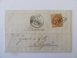 Enveloppe Strabourg Vers Lyon - Timbre Napoléon Lauré 40c YT N°31  - Ob GC 3465 - 1869 - 1849-1876: Classic Period