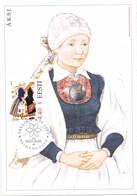 33314. Tarjeta Maxima TALLINN (Estonia) Eesti 2003. Traje Tipico ÄSKI, Women Costume - Estonia