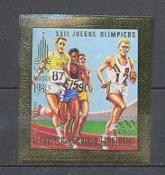 160 Guinée équatoriale Guinea N°286 OR Gold Stamps Non Dentelé Imperforate Jeux Olympiques MOSCOU 1980 COURSE - Summer 1980: Moscow