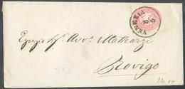 5 Soldi Rose, Obl. Sc VENEZIA 8/5 23/6 Sur Enveloppe Vers Rovigo.  Belle Fraîcheur. - 14318 - Lombardo-Vénétie