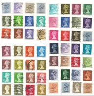Grande Bretagne, 1 Lot De 56 Timbres Oblitérés, Elisabeth II - Timbres