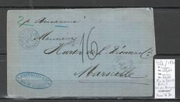 France -Lettre Du Paquebot AMAZONE - Rio De Janeiro Brésil - 1870 - Marcophilie (Lettres)