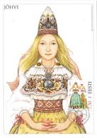 33316. Tarjeta Maxima TALLINN (Estonia) Eesti 2003. Traje Tipico JÖHVI, Women Costume - Estonia