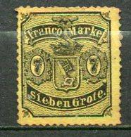 BREME -  Yv. N°13 Mi. 13  (*) 7gr  Noir S Jaune   Cote 190€  BE R  2 Scans - Brême