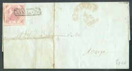 2 Gr. Rose, Marges Maxima, Pl.III, Obl; Griffe Annulato Sur Lettre De CHIETI Le 4 Avril  1860 - 14322 - Naples
