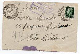 WWII  Censor Italy 1943 - 1900-44 Vittorio Emanuele III