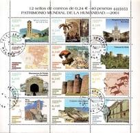 Spain 2001 - Sheet - UNESCO World Heritage - 1931-Hoy: 2ª República - ... Juan Carlos I