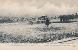 CPA - Belgique - Environs D'Anvers - Artillerie Belge Campée Dans La Neige - Antwerpen