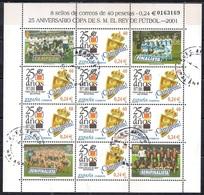 Spain 2001 - Sheet Of The 25th Anniversary Of Copa Del Rey - 1931-Hoy: 2ª República - ... Juan Carlos I