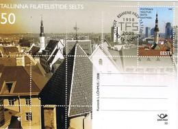 33318. Tarjeta Entero Postal TALLINN (Estonia) Eesti 2008. Catedral, Franqueo Pagado, Postage Paid - Estonia