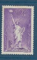 Timbres Neufs *  France, N°309 Yt, Statue De La Liberté De Bartholdi,  Charnière - Nuevos