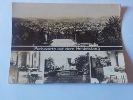 CPSM   ALLEMAGNE  PARKWARTE AUF DEM HEIDELSBERG   VOYAGEE TIMBREE 1973 - Allemagne