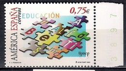 Spain 2002 - America UPAEP - Education And Illiteracy  MINT - 1931-Hoy: 2ª República - ... Juan Carlos I