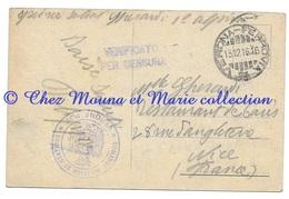 WWI ITALIE - SOLDAT GHERARDI - VERIFICATO PER CENSURA COMMANDO MILITARE CAD VERONA FERROVIA - NICE - CPA MILITAIRE - Guerre 1914-18