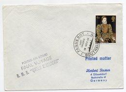 "Ship Mail ""Queen Elizabeth"" Southampton 1968 - 1952-.... (Elizabeth II)"