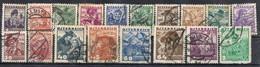 Serie Completa, Complet Shet AUSTRIA 1934, Yvert Num 441-458 º - Usados