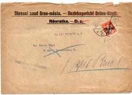 Brno Postage Due Court 1928 - Czechoslovakia