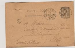 """Meurthe-et-Moselle - Briey + Boite """"F2"""" = GENAVILLE - Marcophilie (Lettres)"""