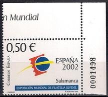 Spain 2002 - The World Youth Philatelic Exhibition ESPAÑA 2002 - Salamanca  MINT - 1931-Hoy: 2ª República - ... Juan Carlos I