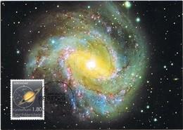 33324. Tarjeta Maxima VADUZ (Liechtenstein) 2004. Astronomia. Saturno Planet, Galaxia Centaurus - Astronomùia