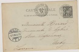 Meurthe-et-Moselle - LONGUYON 1896 - Marcophilie (Lettres)