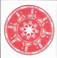 ETIQUETTE   DE  FROMAGE   NEUVE 18 Cm  NOTRE DAME DES PAS NORMANDIE CALVADOSSAINT PAULIN L'EVEQUE SAVIGNY L'EVEQUE SARTH - Cheese