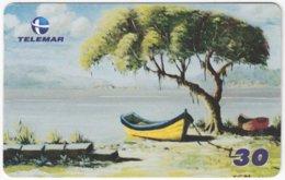 BRASIL I-639 Magnetic Telemar - Painting, Traffic, Boat - Used - Brésil