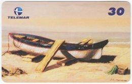 BRASIL I-640 Magnetic Telemar - Painting, Traffic, Boat - Used - Brésil