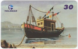 BRASIL I-641 Magnetic Telemar - Painting, Traffic, Boat - Used - Brésil