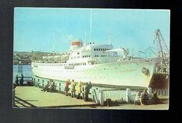 CP Russie - Mourmansk Мурманск - Navire à Passagers Vaclav Vorovski Dans Le Port - The Vatslav Vorovsky Passenger Liner - Russia