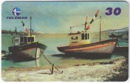 BRASIL I-645 Magnetic Telemar - Painting, Traffic, Boat - Used - Brésil
