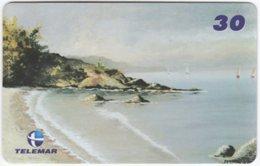 BRASIL I-648 Magnetic Telemar - Painting, Landscape, Coast - Used - Brésil