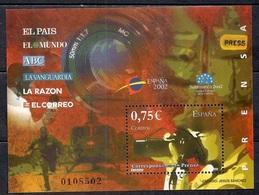 Spain 2002 - World Youth Philatelic Exhibition Espana 2002 Salamanca - Newspapers - 1931-Hoy: 2ª República - ... Juan Carlos I