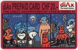 SWITZERLAND C-307 Prepaid - Cartoon, Comic - Used - Switzerland