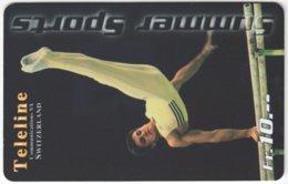 SWITZERLAND C-381 Prepaid Teleline - Sport, Gymnastics - Used - Switzerland