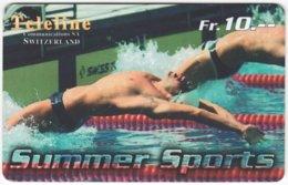 SWITZERLAND C-382 Prepaid Teleline - Sport, Swimming - Used - Switzerland