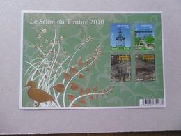 FRANCE 2010  BF130  Nos YT 4384/4385 4479/4480 * *       BLOC JARDINS DE FRANCE SALON DU TIMBRE 2010 - Blocs & Feuillets