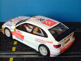 Scalextric SXC CITROËN XSARA T4 - WRC Blanco - Circuitos Automóviles