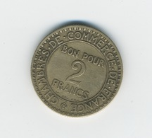 Bon Pour 2 Francs CHAMBRES DE COMMERCE 1920 - Monétaires / De Nécessité