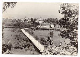 1959 YUGOSLAVIA, SLOVENIA, CERKLJE OB KRKI, TO BELGRADE, SERBIA, BREZICE, SUSPENSION BRIDGE, ILLUSTRATED POSTCARD, USED - Yugoslavia