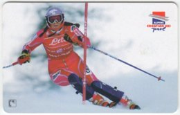 CROATIA B-860 Chip HT - Sport, Skiing, Janica Kostelic - Used - Croatia