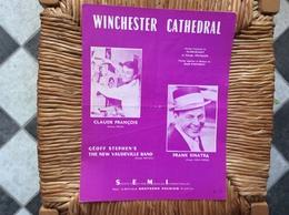 PARTITION MUSICAL *CLAUDE FRANÇOIS *FRANK SINATRA  Winchester Cathédral - Partituren