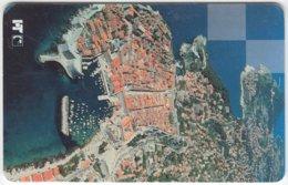 CROATIA B-998 Chip HT - View, Town, Dubrovnik - Used - Croatia
