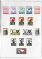SUISSE - 1939/45 - SUPERBE ENSEMBLE De 155 VIGNETTES DIFFERENTES Sur 13 FEUILLES D'ALBUM - */OB - Posta Militare