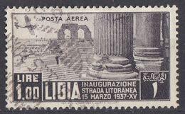 LIBIA (COLONIA ITALIANA) - 1937 - Yvert Posta Aerea 7, Usato, Come Da Immagine. - Libyen