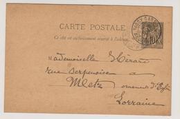 Meurthe-et-Moselle - NANCY-GARE - Marcophilie (Lettres)