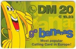 GERMANY Prepaid B-290 - GoBananas - Cartoon, Fruit, Banana - Used - Germany