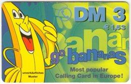 GERMANY Prepaid B-292 - GoBananas - Cartoon, Fruit, Banana - MINT - Germany